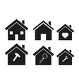 homes icons set vector image vector image