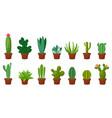 horizontal banner set of desert room green cactus vector image vector image