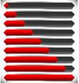 horizontal progress loading bars steps phases vector image