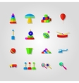 Icons for children toys vector image