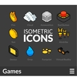 Isometric outline icons set 13 vector image vector image