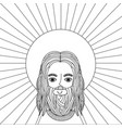 jesus christ man icon vector image vector image