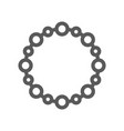 Jewelry flat line icon 48x48 pixels