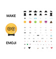 Make your emoji vector image vector image