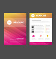 modern brochure template flyer design template vector image vector image