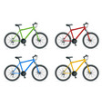mountain bike or urban bike isolated on white vector image