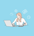 multitasking time management and productivity vector image