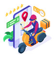 online food order package delivery service vector image vector image