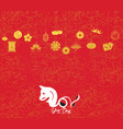 oriental happy chinese new year 2018 year of vector image