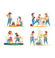 plumber work cartoon concept vector image vector image