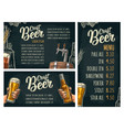 poster and price menu craft beer lettering vector image