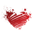 red heart grungy vector image vector image