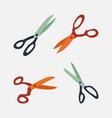 scissor element vector image vector image