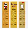 season calendar autumn color bookmark vector image