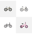 set of realistic symbols with track cycle bm vector image