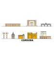 spain cordoba flat landmarks vector image vector image
