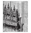 tomb cardinal damboise at rouen vintage vector image vector image