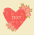 vintage love card for text on old paper grunge vector image vector image