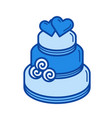 wedding cake line icon vector image vector image