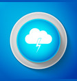 white storm icon isolated on blue background vector image vector image