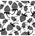 wild strawberry pattern vector image vector image