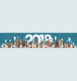 winter urban landscape city with snow christmas vector image vector image