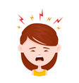 woman young girl in stress flat vector image