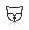 Animal Portrait Line Icon Fox vector image