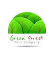 Concept graphic white abstract green tree forest vector image
