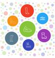 7 footwear icons vector image vector image