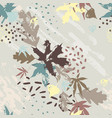 abstract fall seamless pattern in bright autumn