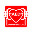 aed icon - automated external defibrillator sign vector image vector image