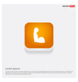 arm icon orange abstract web button vector image