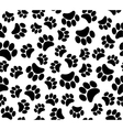 background animal footprints vector image vector image