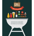 BBQ party invitation designed as a hamburger vector image