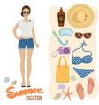beach holiday summer vacation vector image