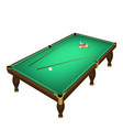 billiard game balls start position on a realistic vector image vector image