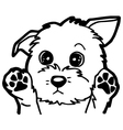 Black and White Cartoon Dog for Coloring Book vector image vector image