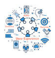 blue round concept - user experience vector image