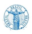 Brazil logo design template Shabby stamp vector image vector image