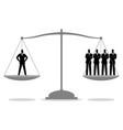 businessman equal as four businessmen vector image vector image