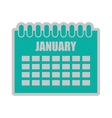calendar reminder isolated icon design vector image vector image