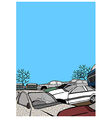 Cars parked vector image