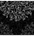 chalkboard floral pattern vector image