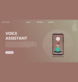 character voice assistant listens to user command vector image