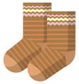 children socks isolated on white background vector image vector image