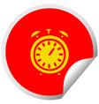circular peeling sticker cartoon alarm clock vector image vector image