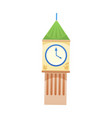 clock tower icon vector image