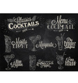 cocktails chalk vector image