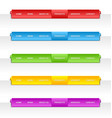 Colorful folded paper navigation menu vector image
